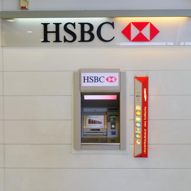 """HSBC ATM"" stock image"