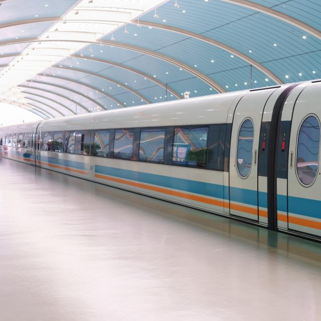 """Maglev train"" stock image"