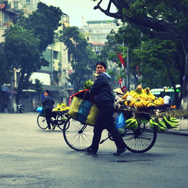 """Banana vendor"" stock image"