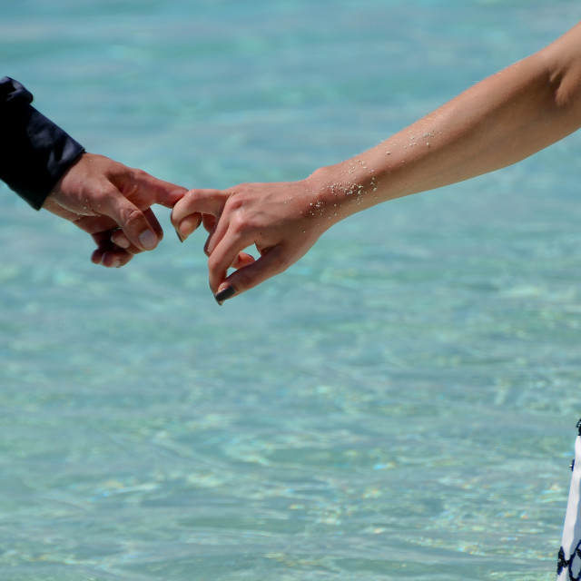 """""""The Hands of Loving Couple"""" stock image"""