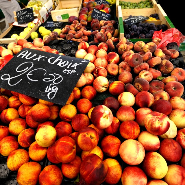"""""""Apricots for sale"""" stock image"""