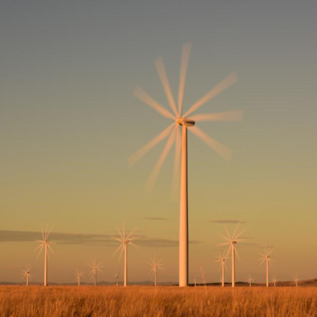 """Wind Turbines of Wyoming, USA"" stock image"