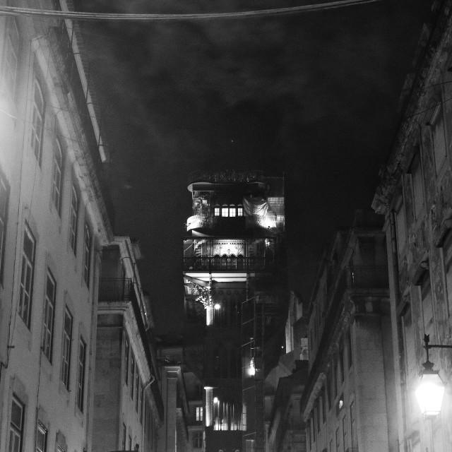 """Lisbon dark side"" stock image"