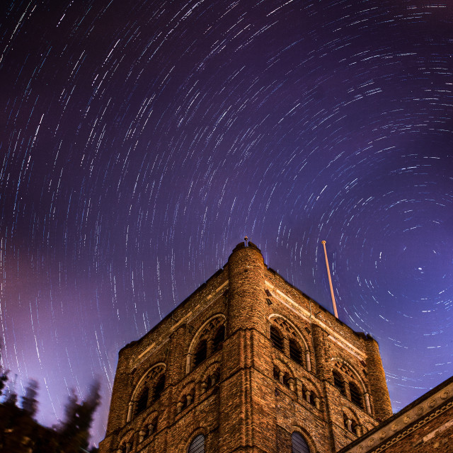 """Stars over St Albans"" stock image"