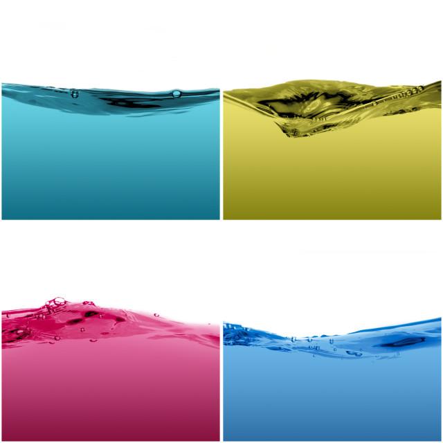 """Set of water waves"" stock image"