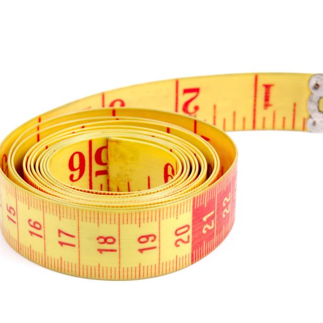 """Tailor measuring tape"" stock image"