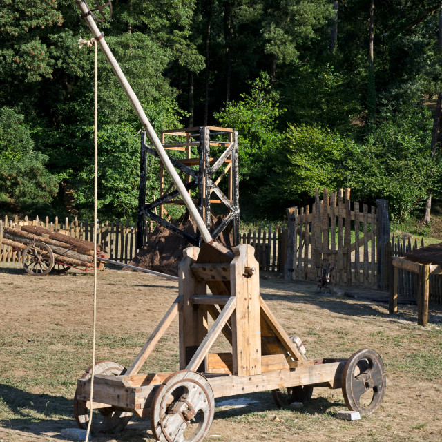 """Medieval catapult"" stock image"
