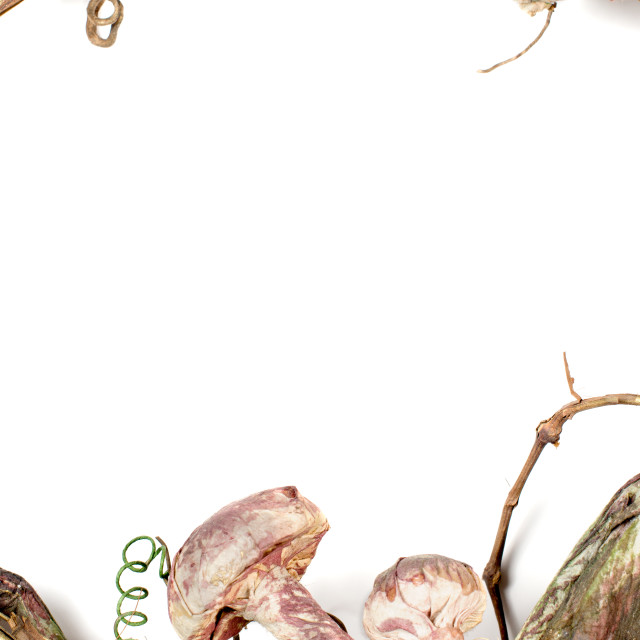 """Wreath straw background"" stock image"