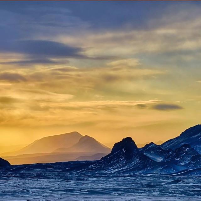 """""""Icelandic Sunset Landscape"""" stock image"""