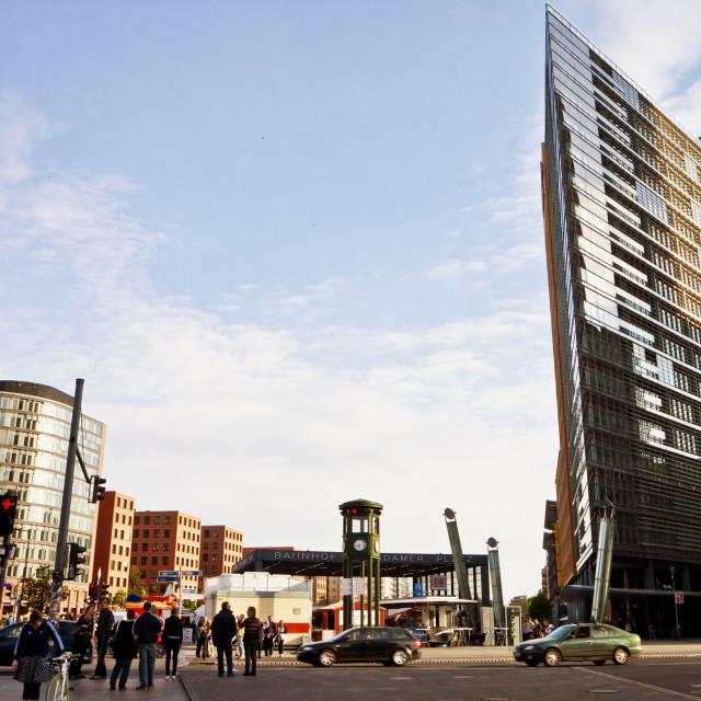 """""""Futuristic architecture at Potsdamer Platz in Berlin"""" stock image"""