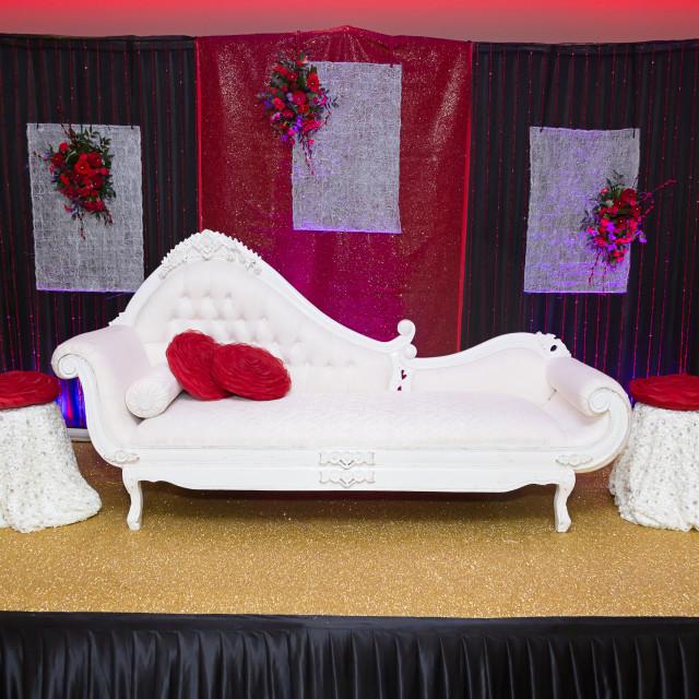 """Red Black Wedding Stage"" stock image"