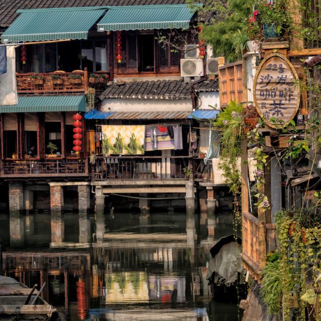 """""""Zhujiajiao, Water Town"""" stock image"""