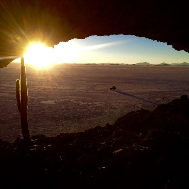 """Salt Flats at Sundown"" stock image"