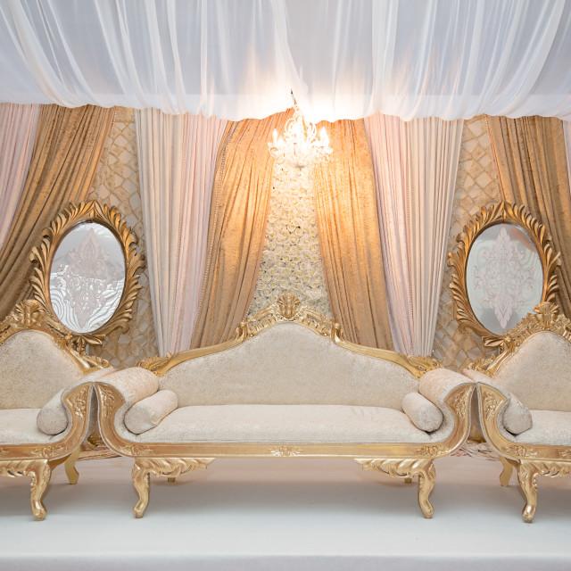 """Gold wedding stage"" stock image"