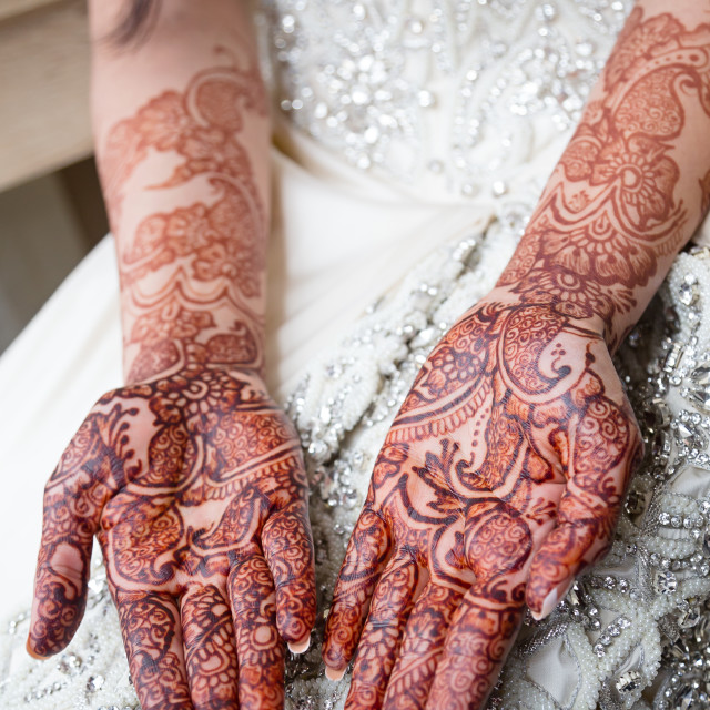 """Bridal henna"" stock image"