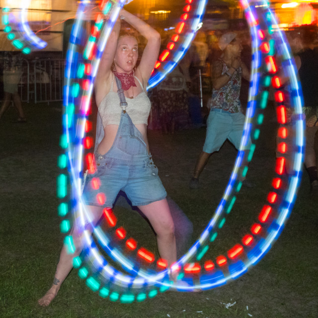 """""""Hula Hoop at Wanee Festival"""" stock image"""