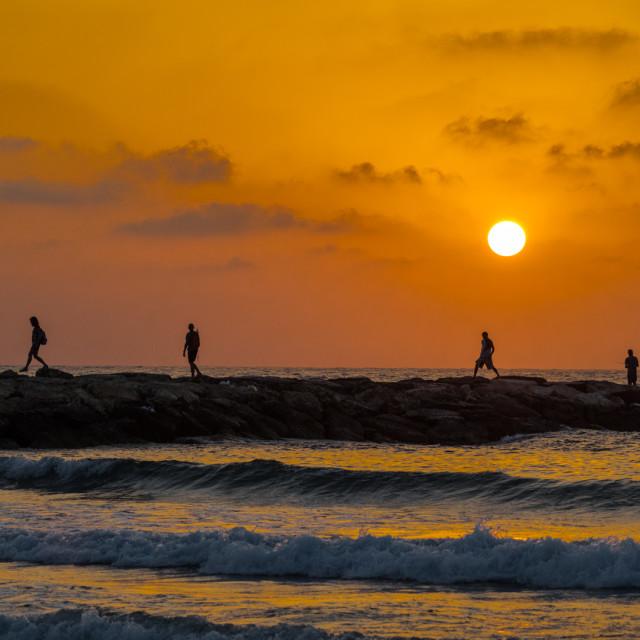 """Sunset in Tel Aviv"" stock image"