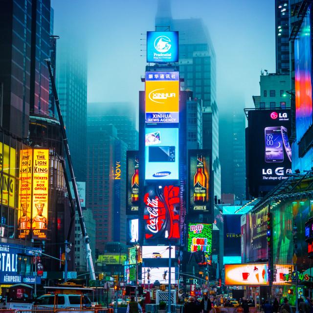 """Times Square at sunrise"" stock image"
