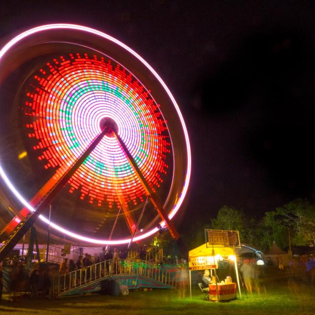 """Ferris Wheel at Wanee Festival"" stock image"