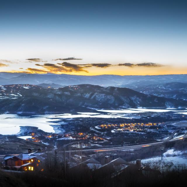 """Deer Valley sunrise"" stock image"