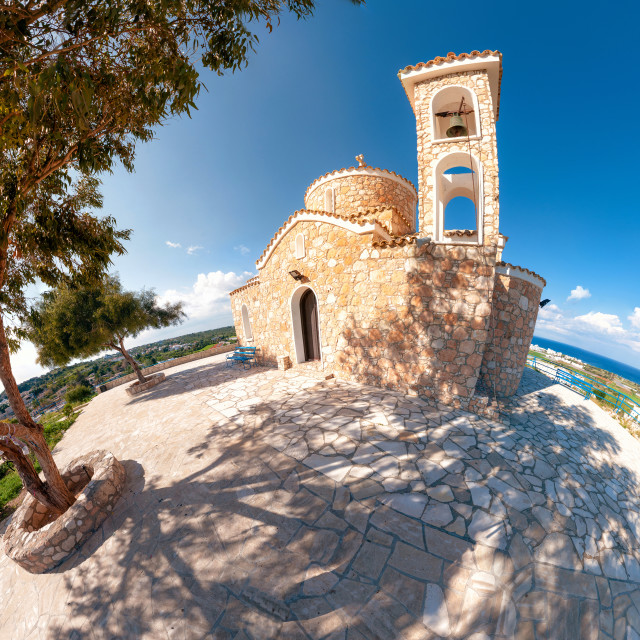 """Church Profitis Ilias. Protaras, Cyprus"" stock image"