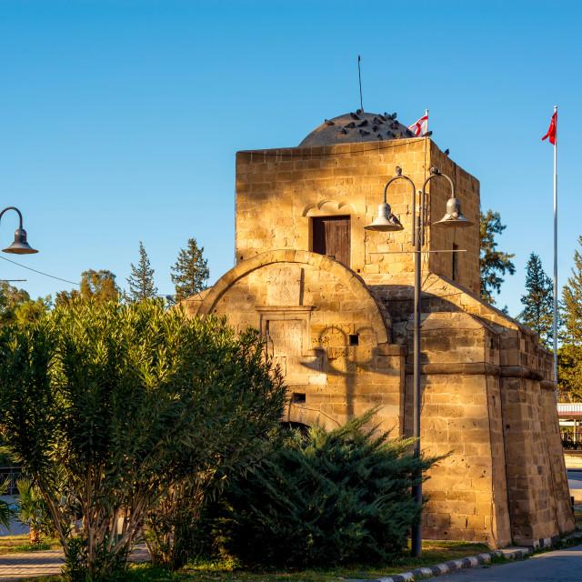 """Kyrenia Gate (Girne Kapisi). Nicosia, Cyprus"" stock image"