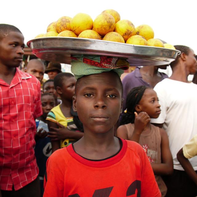 """""""Orange Trader Calabar"""" stock image"""