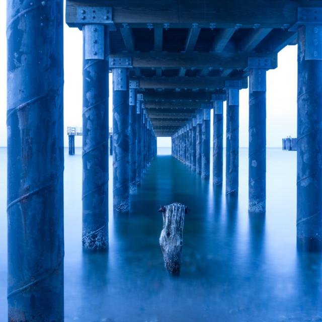 """Martha's Vineyard Fishing Pier"" stock image"