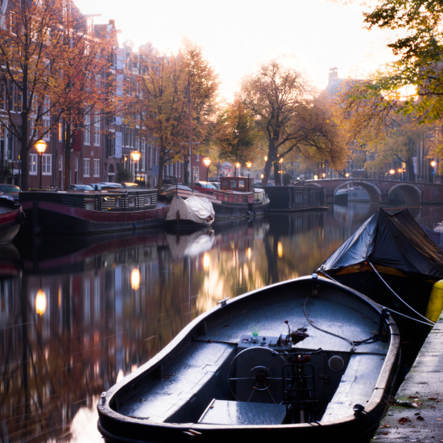 """""""Amsterdam canal"""" stock image"""