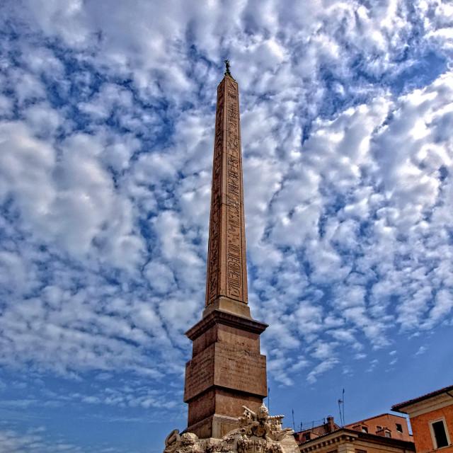 """""""Obelisco in Rome"""" stock image"""