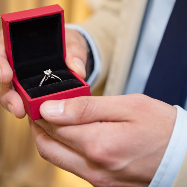 """""""Groom holding ring"""" stock image"""