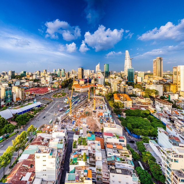 """Ho Chi Minh City Skyline Panorama - Vietnam"" stock image"