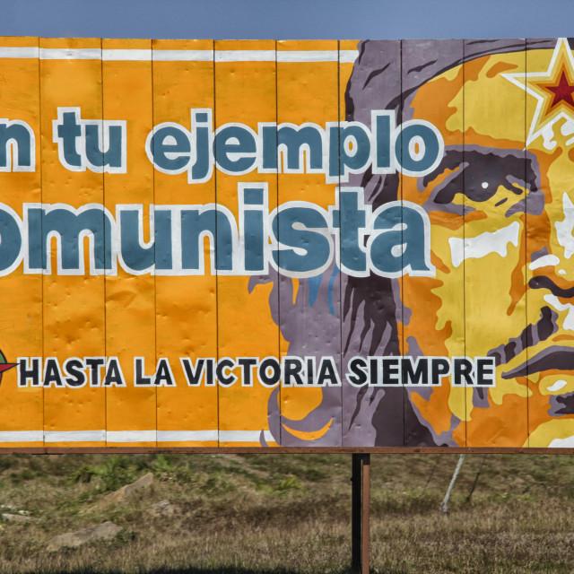 """Roadside propaganda in Cuba"" stock image"