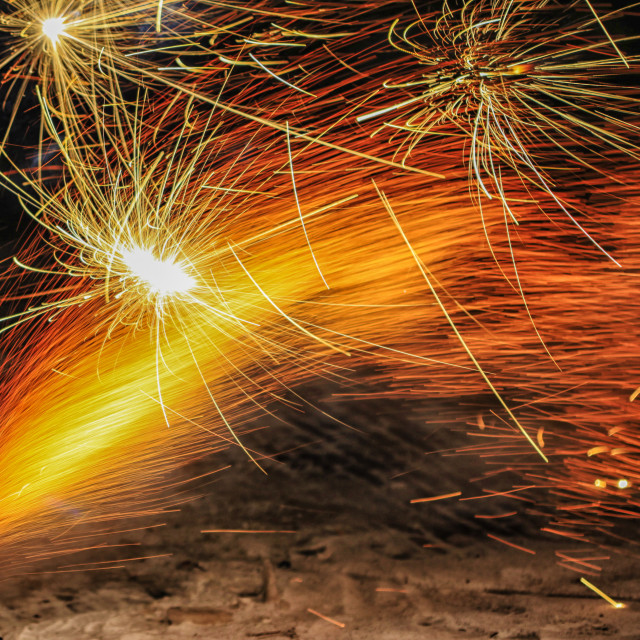 """Fire works"" stock image"