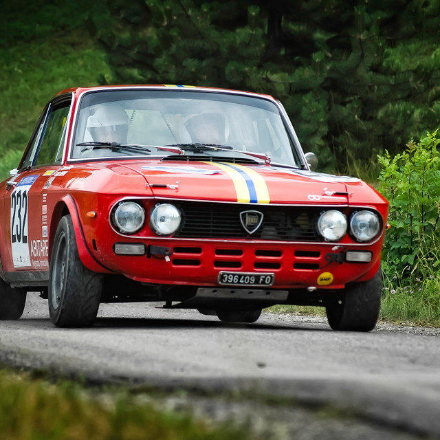 """Lancia Fulvia racing car"" stock image"