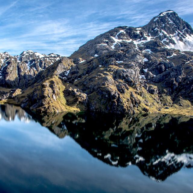 """""""Lake Harris - New Zealand"""" stock image"""