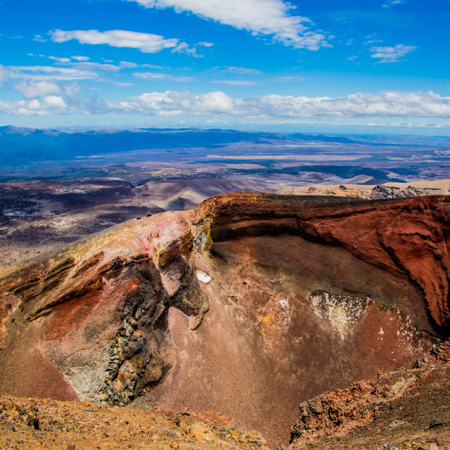 """Red Crater - New Zealand"" stock image"