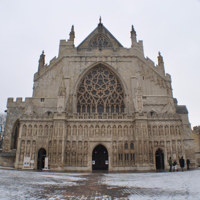 """Winter at The Cathedral"" stock image"