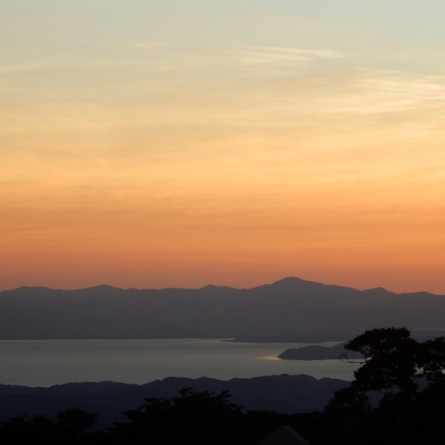 """Sunset at Monteverde Costa Rica,"" stock image"