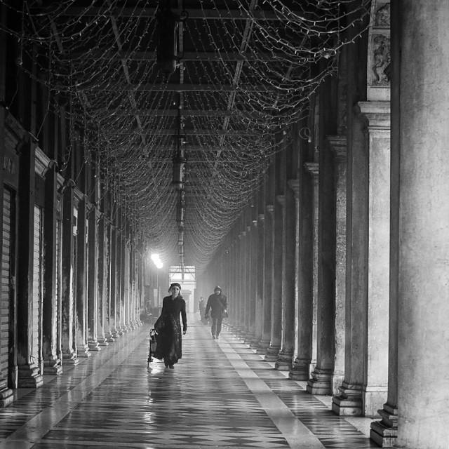 """A stroll in Venice"" stock image"