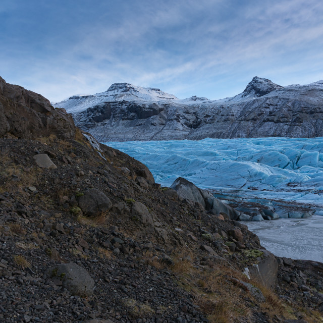 """enjoying glacier view"" stock image"