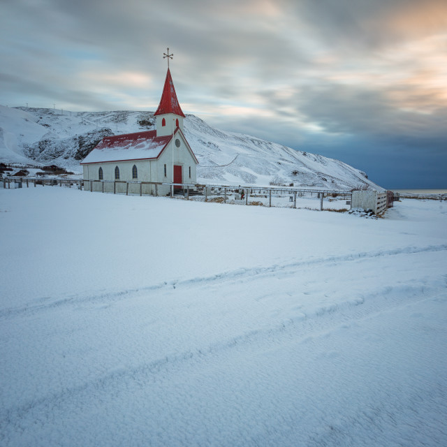 """church and sunrise"" stock image"