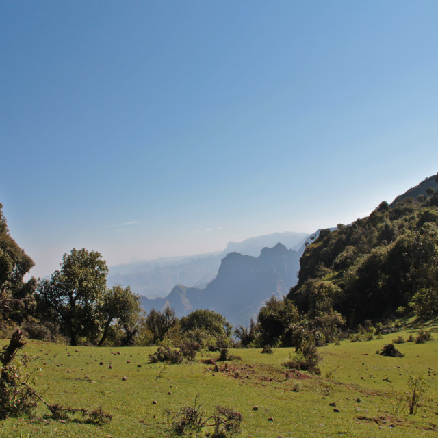 """Valley in the Simien Mountains, Ethiopia"" stock image"