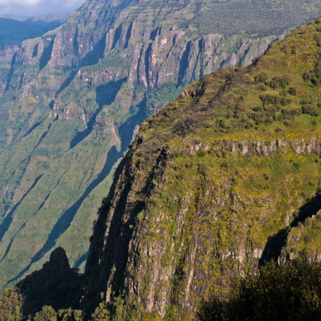 """The escarpment, Simien Mountains, Ethiopia"" stock image"