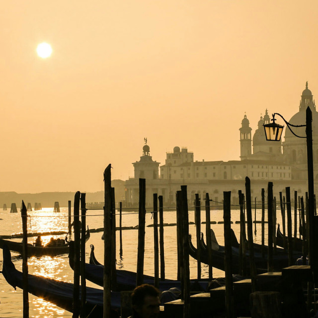 """Sunset Venice italy"" stock image"