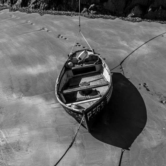 """Moored Boat"" stock image"