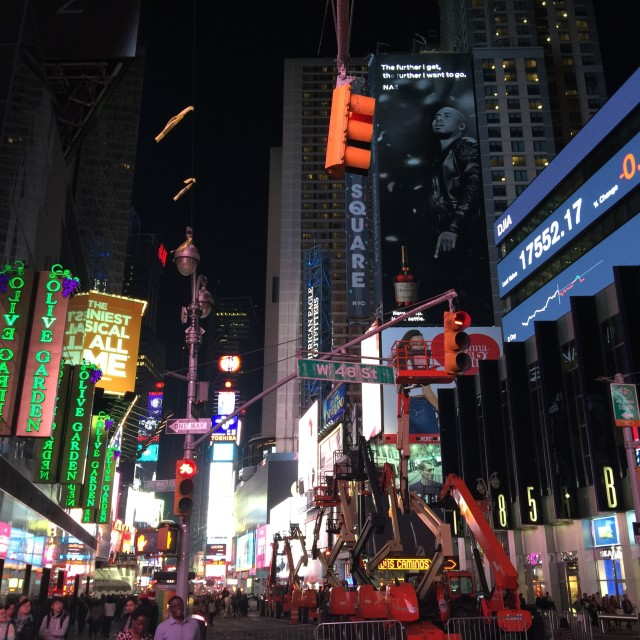 """""""Times Square at night"""" stock image"""