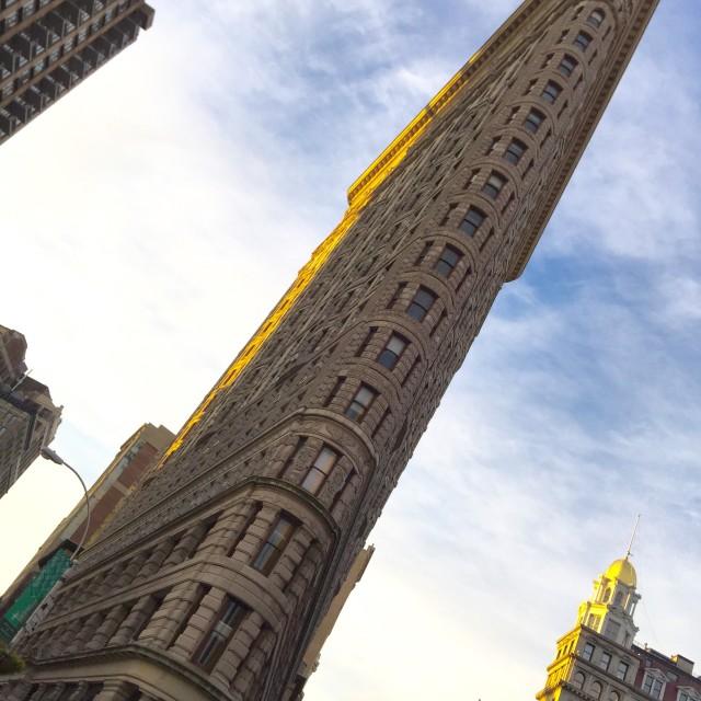 """""""Flatiron building, NY"""" stock image"""