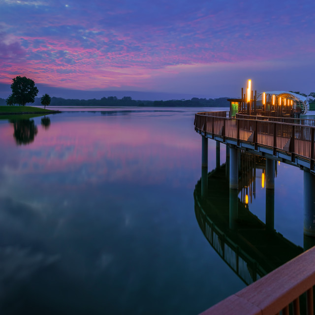 """Lower Seletar Sunrise"" stock image"