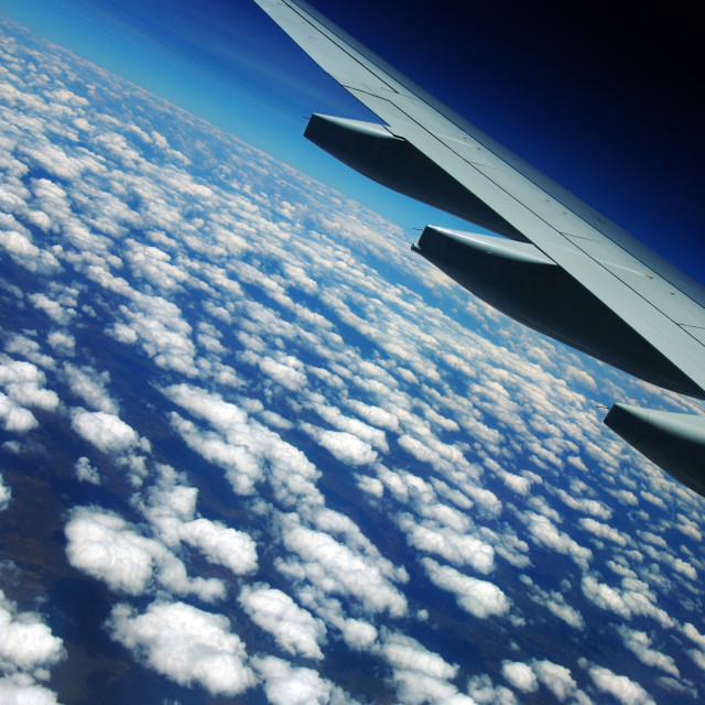 """Sky in a plane"" stock image"